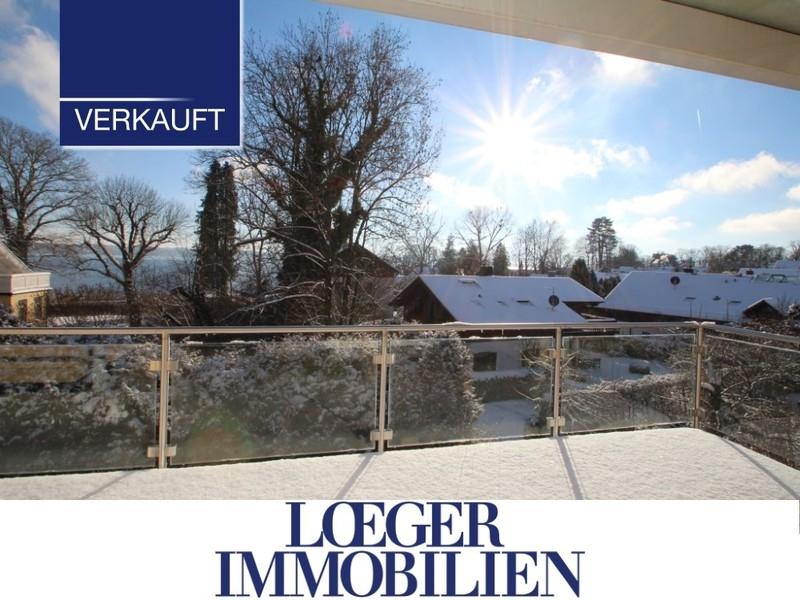 Große 136 m² Galeriewohnung im Zentrum von Tutzing mit tollem Blick auf den See und die Berge.