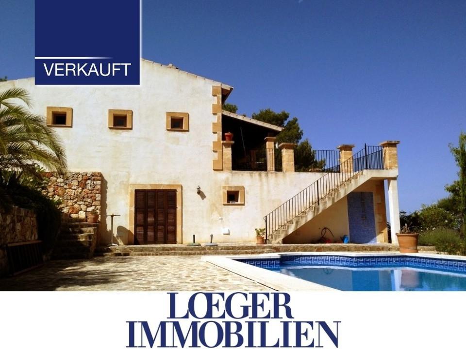 +VERKAUFT+ Finca auf Mallorca mit Weitblick auf das Tramuntanagebirge