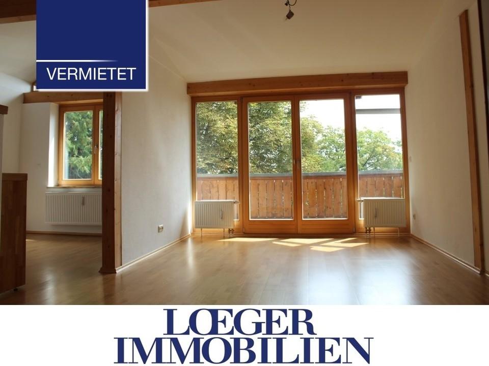 +VERMIETET+2 1/2 Zimmer DG-Wohnung mit Süd-Balkon und Seeblick in Tutzing