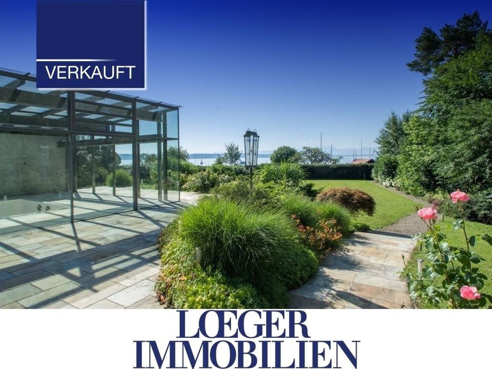 +VERKAUFT+ Ein Traum wird wahr: Haus am See mit Bootshaus und Schwimmhalle in exklusiver Luxuslage