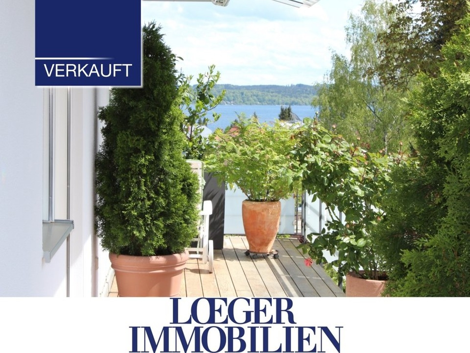 Dachterrassen-Wohnung mit See- und Bergblick – Beste Lage, ruhig, sonnig und mit Eleganz