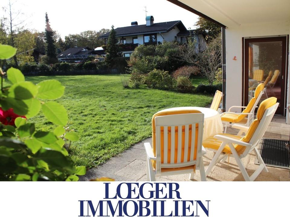 +VERMIETET+sonnige 3-Zimmer-Erdgeschoss-Wohnung mit Süd-Terrasse in Tutzing
