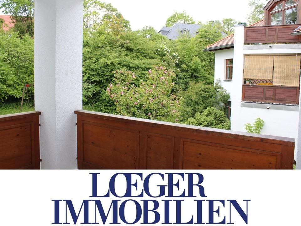 +VERMIETET+ 2-Zimmer-Wohnung in Zentrumslage – mit Balkon und Blick ins Grüne