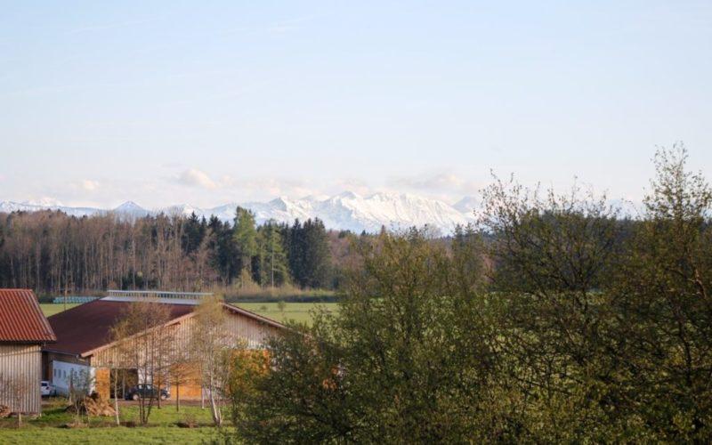 Blick nach Süden auf die Alpe