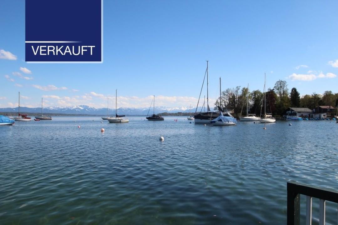 Bebautes Grundstück in Tutzing mit See- und Bergblick