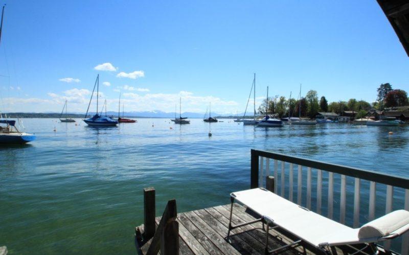 Blick vom Bootshaus