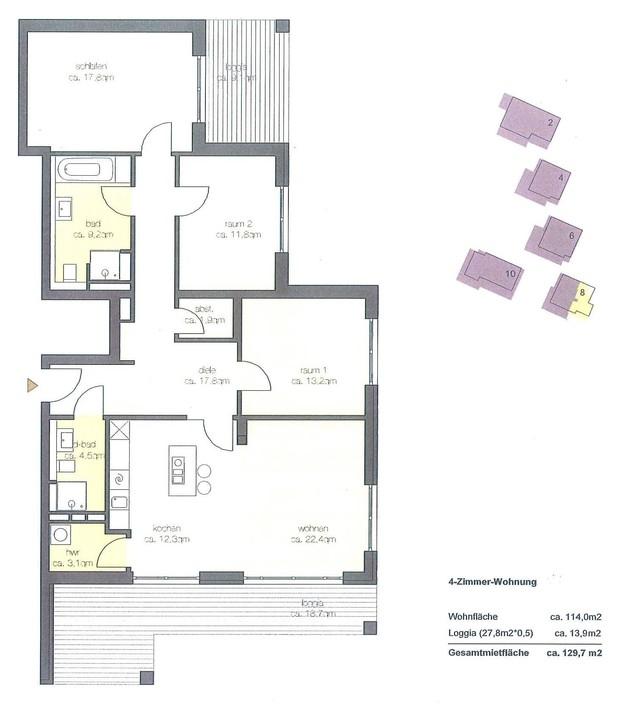 +VERMIETET+ 4-Zimmer-Wohnung mit eleganter Ausstattung – Lift – EBK in Tutzing