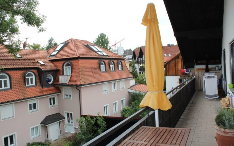 Balkon Blick nach Westen