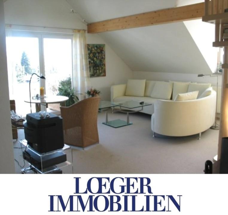 +VERMIETET+moderne Dachgeschoss-Wohnung mit Galerie in ruhiger Wohnlage von Tutzing