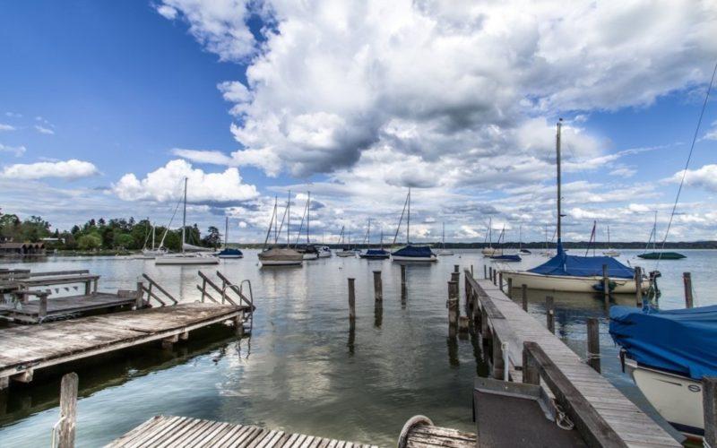 Blick aus der Bootshütte