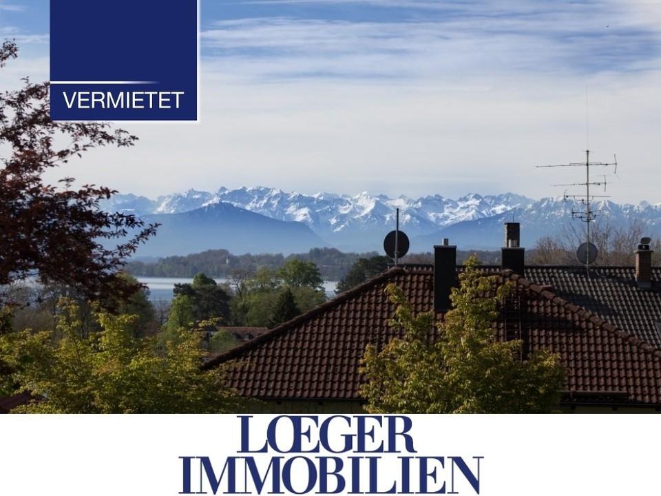 +VERMIETET+ NEUBAU – 3-Zimmer-Wohnung mit großzügigem Blick zum Starnberger See und in die Berge