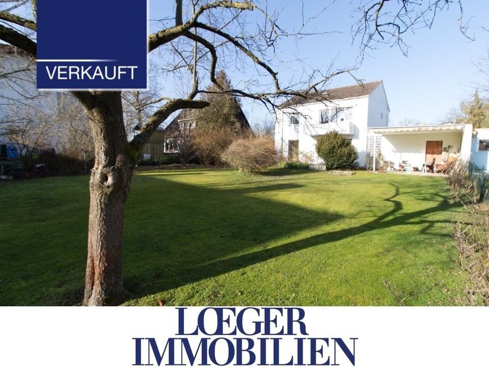 +VERKAUFT+ Germering-Unterpfaffenhofen Ein Haus zum Renovieren auf einem großen Grundstück