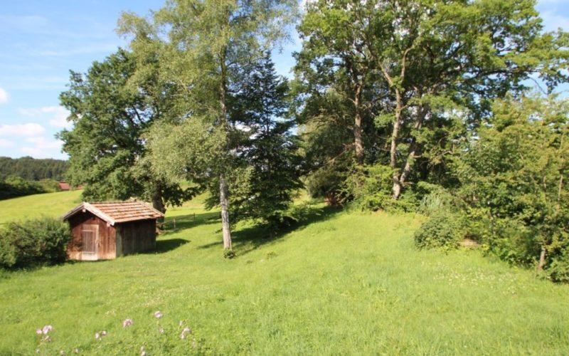 Grundstück mit Schuppen