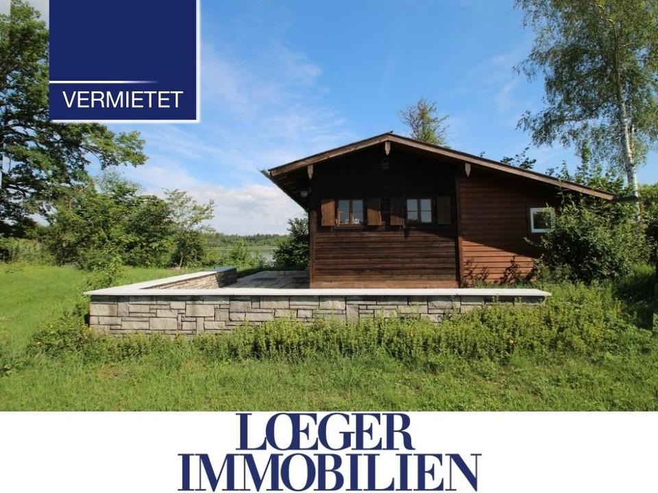+VERMIETET+ Kleines Wochenendhaus am Starnberger See in idyllischer Alleinlage zu vermieten