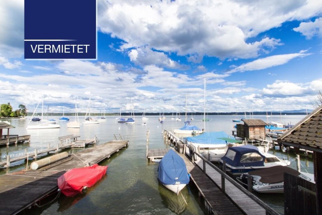 +VERMIETET+ Rarität – Badehütte mit großem Steg in Tutzing am Starnberger See zu mieten