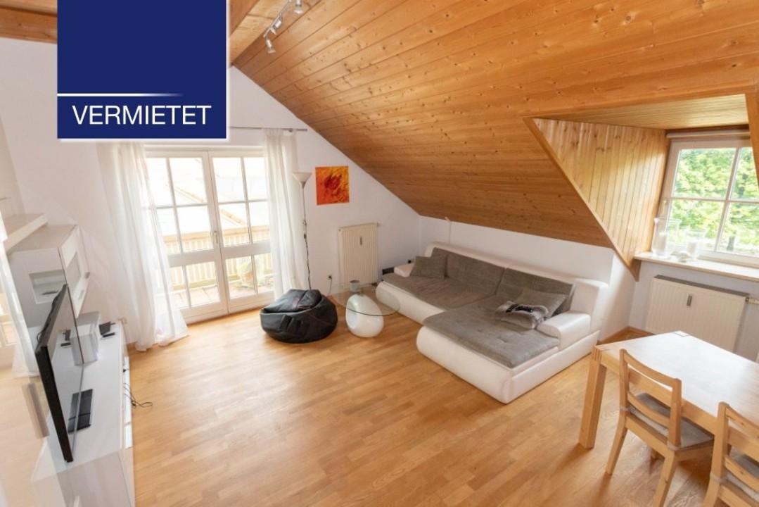 +VERMIETET+Tutzing – charmante 2-Zimmer-Dachgeschoss-Wohnung mit EBK