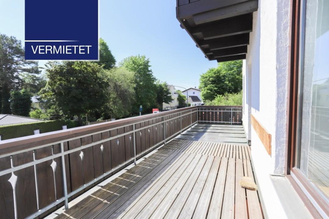 +VERMIETET+ 3-Zimmer-Wohnung mit großem Balkon im Zentrum von Tutzing