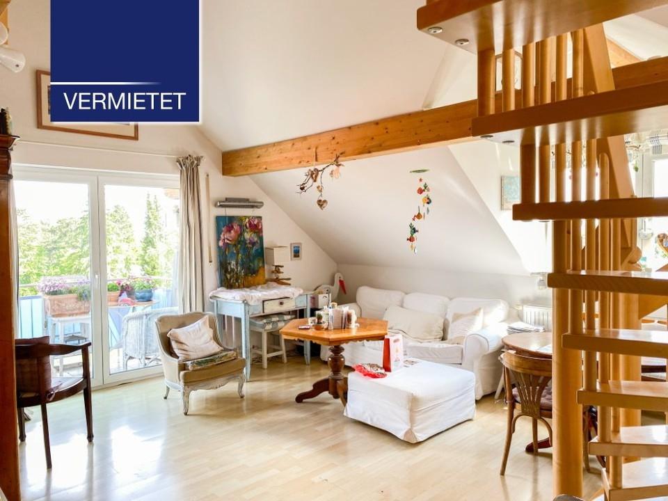 +VERMIETET+ Moderne Dachgeschoss-Wohnung mit Galerie in ruhiger Wohnlage