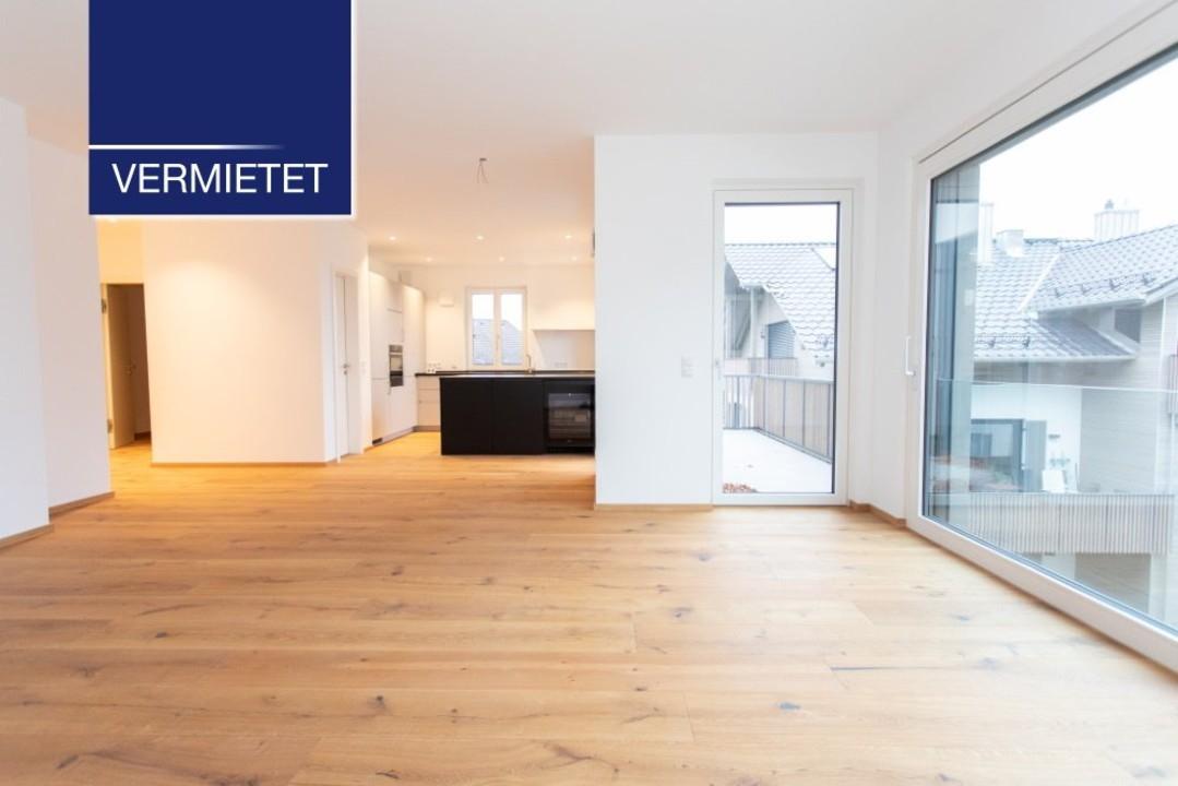 +VERMIETET+ Neubau 3-Zimmer-Wohnung mit See- und Bergblick, TG und Aufzug