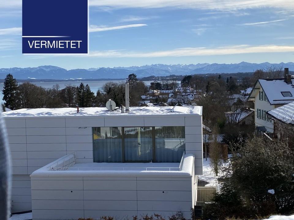 +VERMIETET+ 3-Zimmer-Dachgeschoss-Wohnung mit sagenhaftem See- und Bergblick in Tutzing